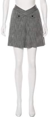 Zac Posen Mid-Rise Textured Shorts