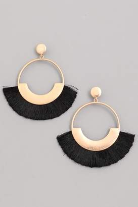 Compendium Black Fringe Earrings