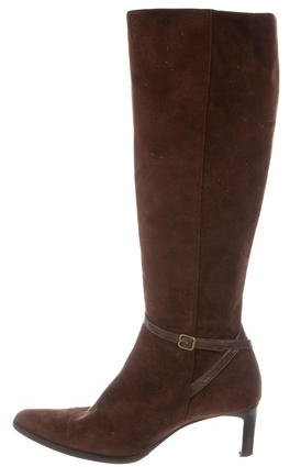Ralph Lauren Collection Suede Knee-High Boots