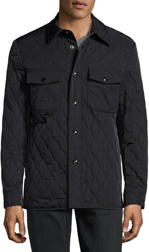 TOM FORD Quilted Shirt Jacket, Navy