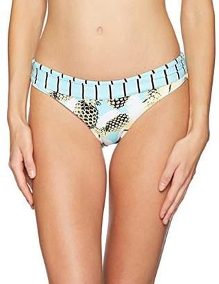 Bikini Lab Women's Reversible Banded Hipster Bikini Swimsuit Bottom