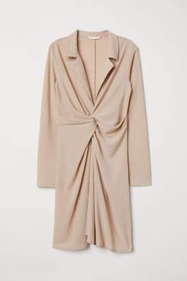 H&M Tie-detail Tunic - Beige