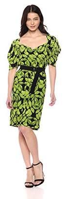 Norma Kamali Women's Pleat Sleeve Sweetheart Mini Dress