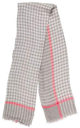 Marc by Marc Jacobs Checkerboard Linen Scarf