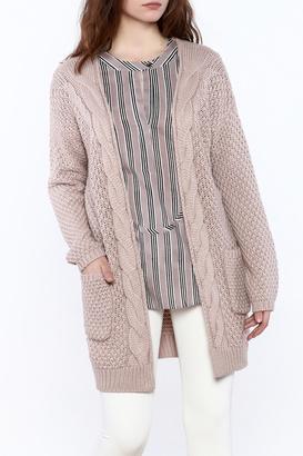 Wishlist Mauve Cable-Knit Cardigan $40 thestylecure.com