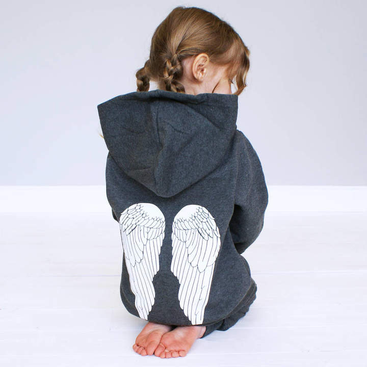 Sparks And Daughters Personalised Angel Children's Onesie