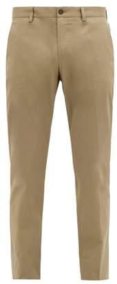 Dolce & Gabbana Tailored Cotton Gabardine Chino Trousers - Mens - Khaki