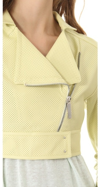 Maison ullens Perforated Leather Jacket