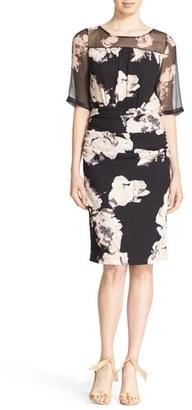 Tracy Reese Print Stretch Silk Blouson Dress $348 thestylecure.com