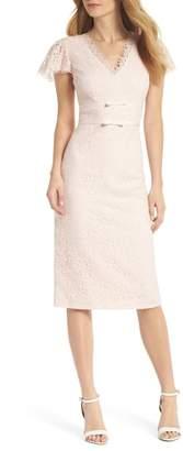 Gal Meets Glam Ginger Rosebud Lace Sheath Dress
