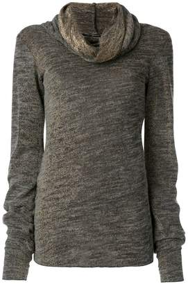 Maurizio Pecoraro draped roll neck sweater