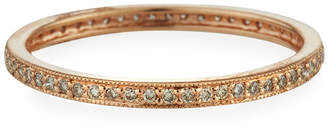 Sydney Evan 14k Rose Gold Diamond Eternity Band Ring, Size 8