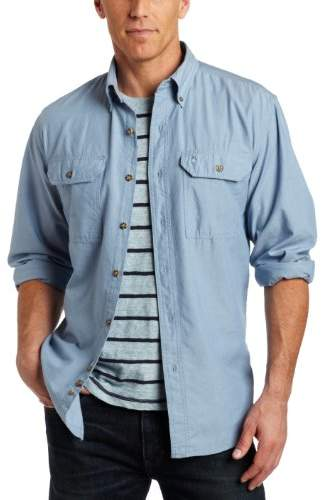 Carhartt Men's Fort Lightweight Chambray Button Front Relaxed Fit LS Shirt S202