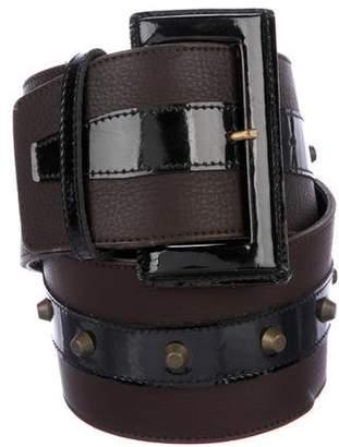 Temperley London Leather Wide Belt