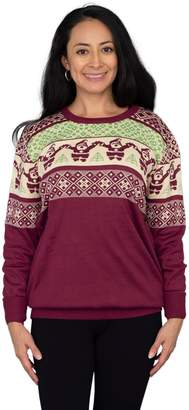 Ugly Sweater Company Burgundy Santa Ugly Christmas Sweater