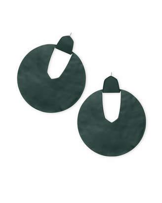Kendra Scott Diane Matte Statement Earrings in Emerald