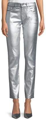 Ralph Lauren Barton Metallic Straight-Leg Jeans