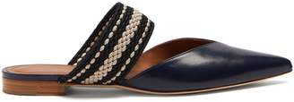 Malone Souliers X Roksanda Hannah leather backless flats