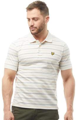Lyle & Scott Vintage Mens Pick Stitch Polo Oatmeal Marl