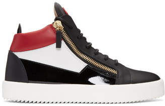 Giuseppe Zanotti Tricolor May London High-Top Sneakers