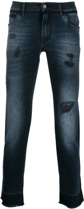 Dolce & Gabbana destroyed jeans