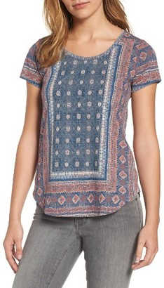 Women's Lucky Brand Placed Print Tee $39.50 thestylecure.com