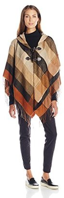 Collection XIIX Women's Mini Plaid Ruana with Closure $13.78 thestylecure.com