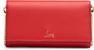 Christian Louboutin Boudoir red leather chain wallet