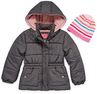 Pink Platinum Heavyweight Diamond Puffer Jacket - Girls 4-16
