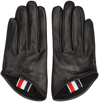 Thom Browne Black Unlined Lowcut Gloves $390 thestylecure.com