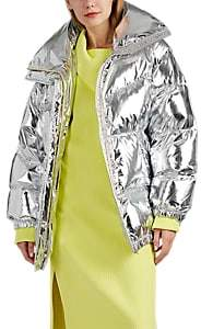 MM6 MAISON MARGIELA Women's Convertible Coated Metallic Puffer Jacket - Silver