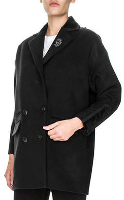 The Kooples Wool-Blend Double Breasted Coat