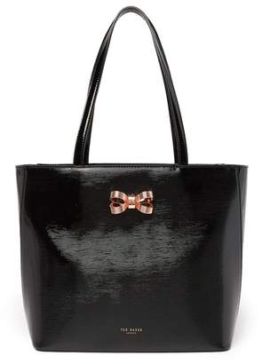 657180736a0ea Ted Baker Linaria Looped Bow Leather Shopper