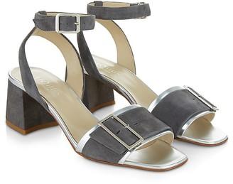 HOBBS LONDON Tara Buckled Block Heel Sandals $275 thestylecure.com