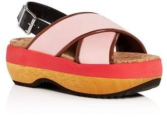 Marni Women's Crisscross Slingback Platform Sandals