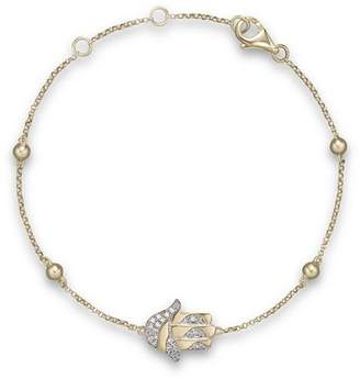 Bloomingdale's Diamond Hamsa Bracelet in 14K Yellow Gold, .10 ct. t.w. - 100% Exclusive