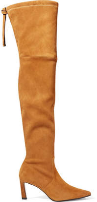 Stuart Weitzman Natalia Suede Over-the-knee Boots - Tan