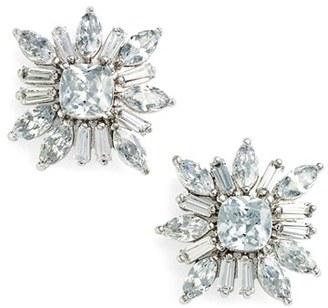 Women's Cz By Kenneth Jay Lane 'Starburst' Cubic Zirconia Stud Earrings $65 thestylecure.com