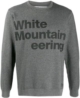 White Mountaineering logo print sweatshirt