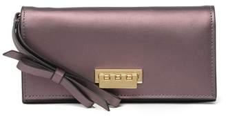 Zac Posen Earthette Leather Wristlet Wallet