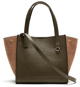 Pebbled Italian Leather Mini Tote $168 thestylecure.com