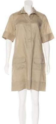 DKNY Linen Midi Dress