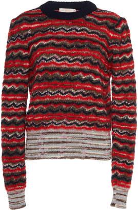 Tory Burch Lurex Stripe Mohair Sweater