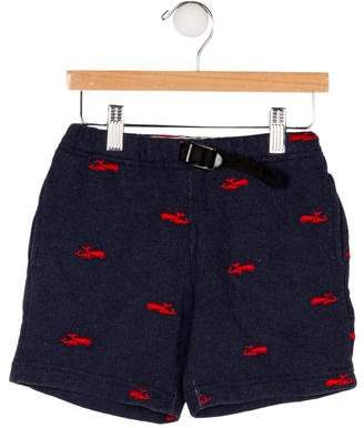 Denim Dungaree Boys' Embroidered Shorts