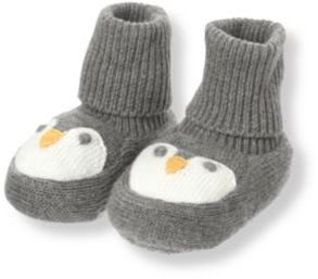 Janie and Jack Penguin Sweater Crib Bootie