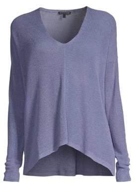 Eileen Fisher V-Neck Boxy Sweater