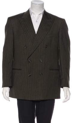 Burberry Striped Double-Breasted Blazer
