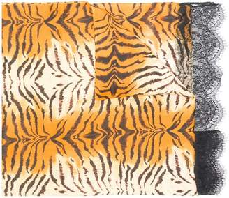 Twin-Set tiger stripe scarf