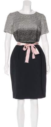 Paule Ka Short Sleeve Knee-Length Dress