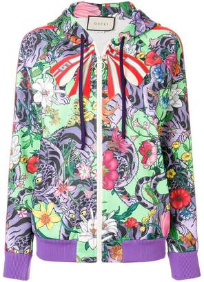 Gucci floral print hooded jacket